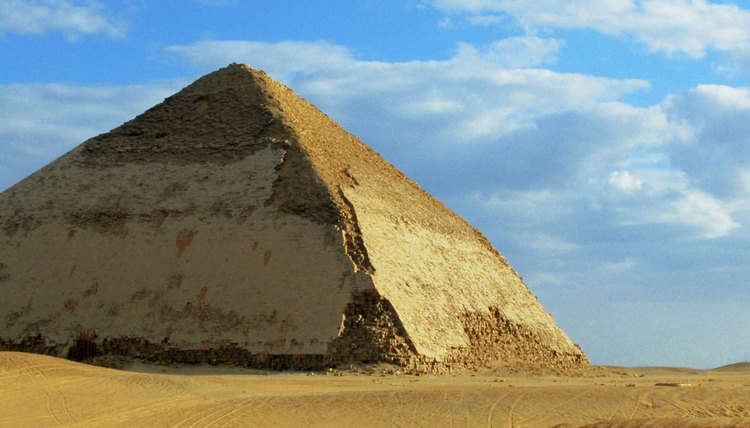 Limestone is the main type of rock used for the pyramids.