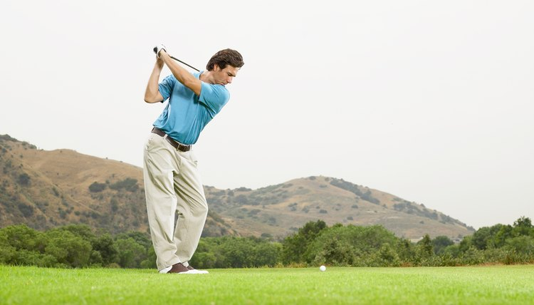 At the top of the swing, your golf club should be pointing directly at your target.