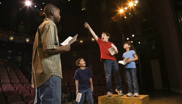 Stage plays often follow a traditional narrative arc of introduction, conflict and resolution.