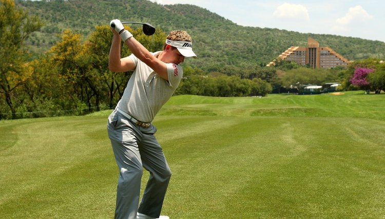 A straight left wrist at impact is important for right-handed players.
