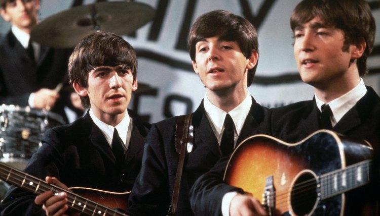 The Beatles performing in 1963.