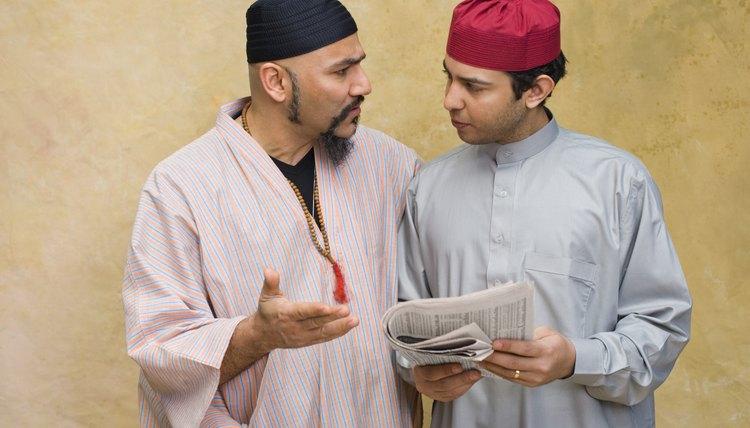 Many Muslim men wear a close-fitting prayer cap called a