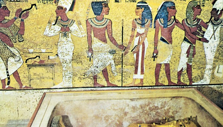 Egyptians were buried with food to eat in the afterlife.