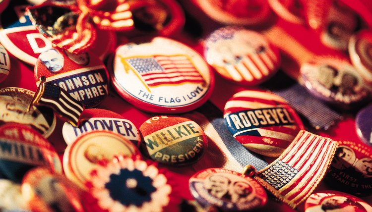 Campaign buttons have been an important part of American politics since the election of 1896.