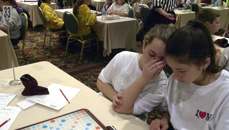Scrabble game.