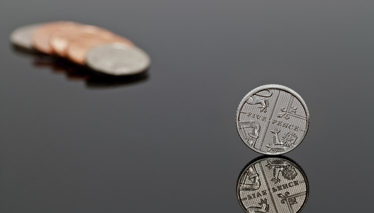 A 5-pence coin is a small monetary denomination.