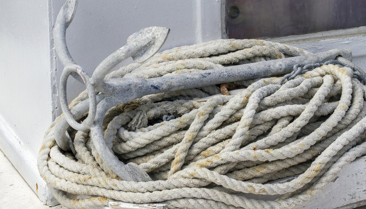 Rope and anchor on a boat.