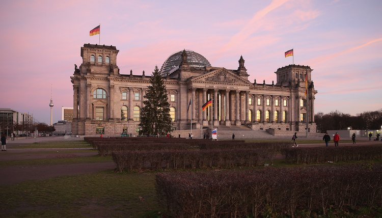 The Bundestag is the federal governing body in Germany. It meets in the Reichstag building.