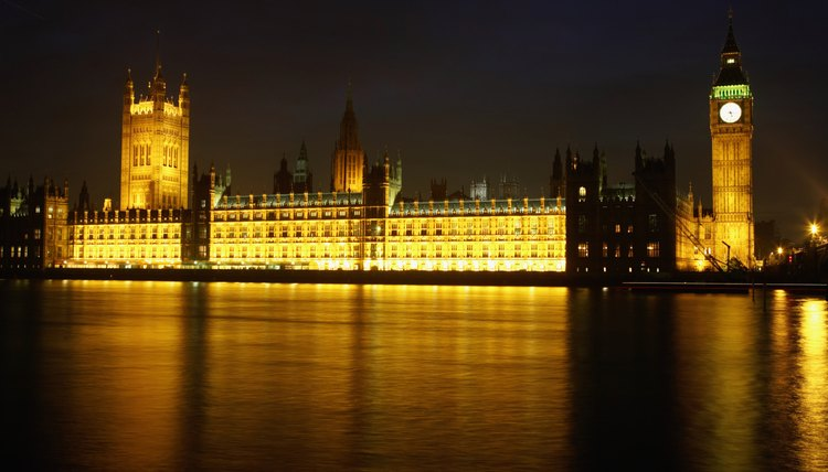 The Houses of Parliament are among London's well-known historical landmarks.