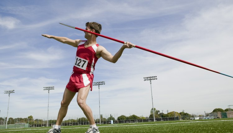 Describe the Sequence of Arm Muscle Movements in Throwing a Javelin