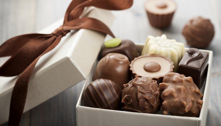 Opened box of nice chocolate
