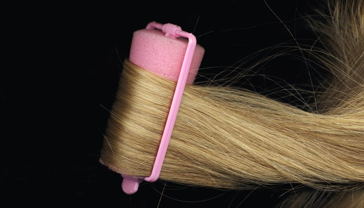 Sponge rollers create uniform curls in both curly and straight hair.