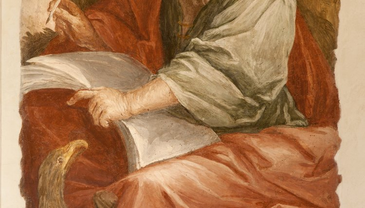 Painting of Saint John the Apostle.