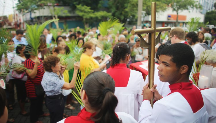 In Brazil, worshipers wave palm branches and celebrate with street parades on Palm Sunday.