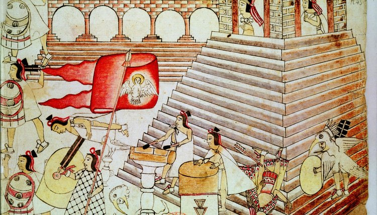 Tenochtitlan was the Aztec capital and an important religious and political center.