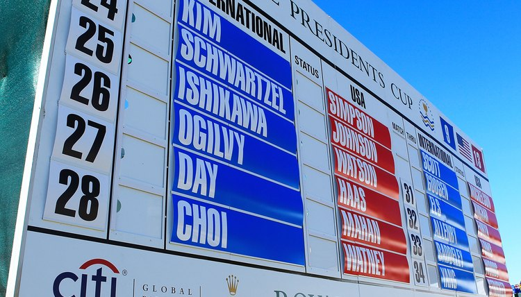 Some golf leaderboards use an asterisk system, while others do not.