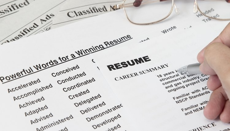 Powerful Word For Winning A Resume  Project Based Resume