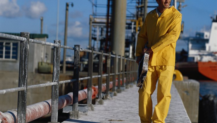 Manual worker working in oil rig