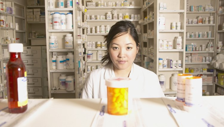 Portrait of a female pharmacist in a pharmacy