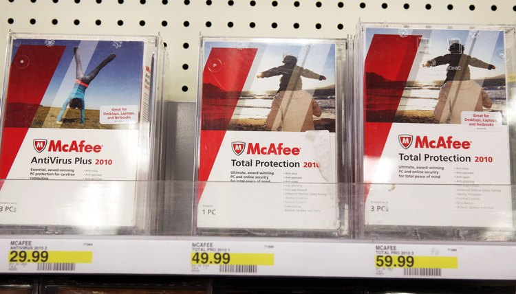 McAfee sells several tiers of security software.