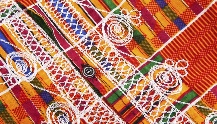Kente cloth is a traditional choice for making a dashiki.