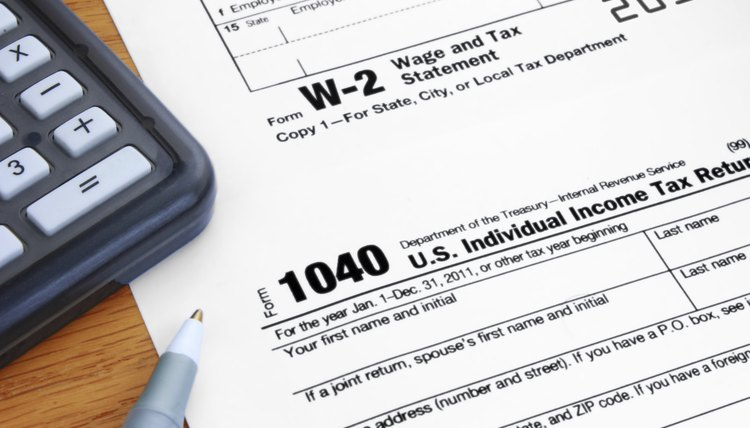 Form 1040 Income Tax and 2012 W2 Wage Statement
