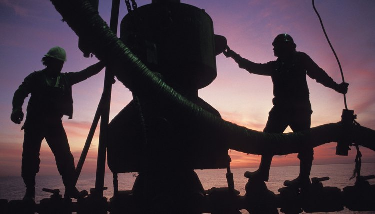 Industrial Workers on an Oil Rig