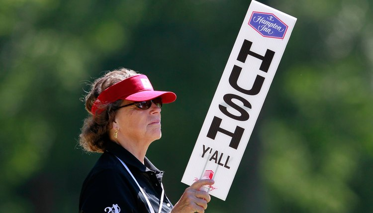 Any sign at a golf tournament may provide a sponsorship opportunity.