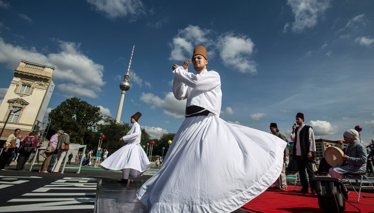 Sufi dances evoke the spiritual significance of the circle in dance.