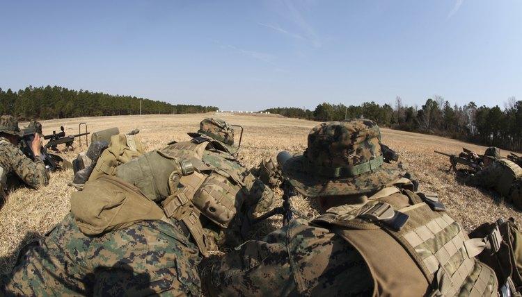 U.S. Marines in sniper training