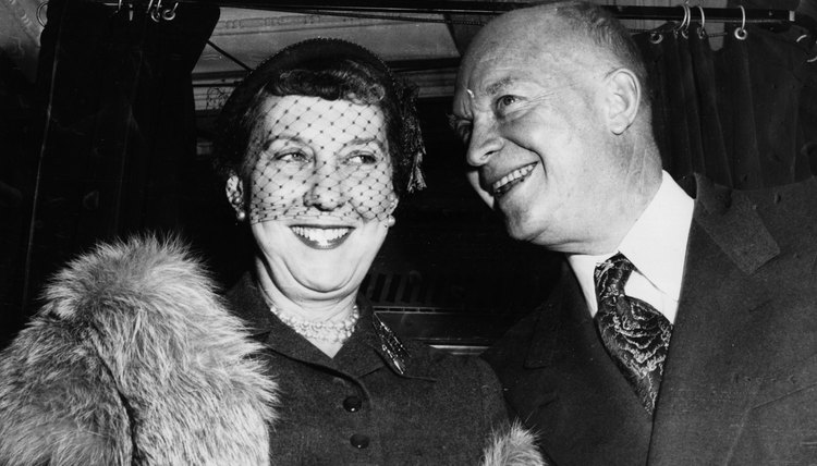 Mamie Eisenhower made bangs popular during the 1950s.