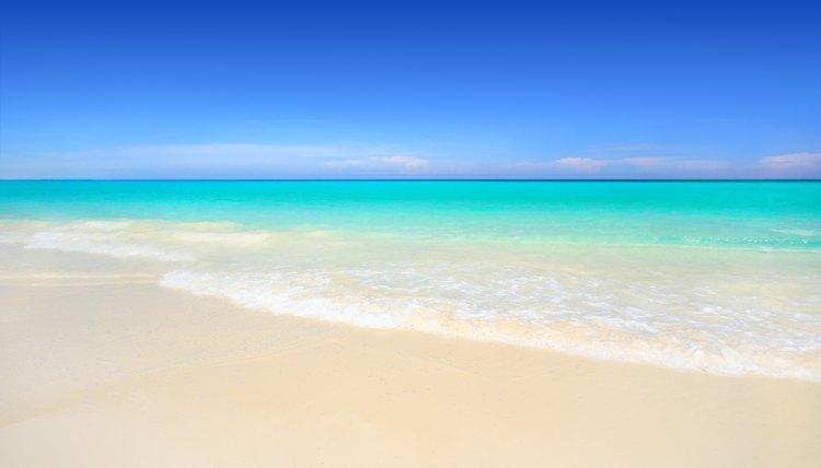 A tropical Jamaican beach.