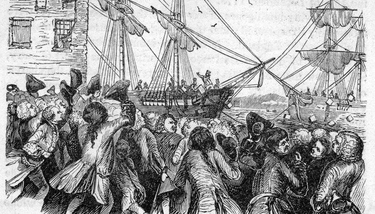 The Boston Tea Party was a reaction to British taxes on tea.