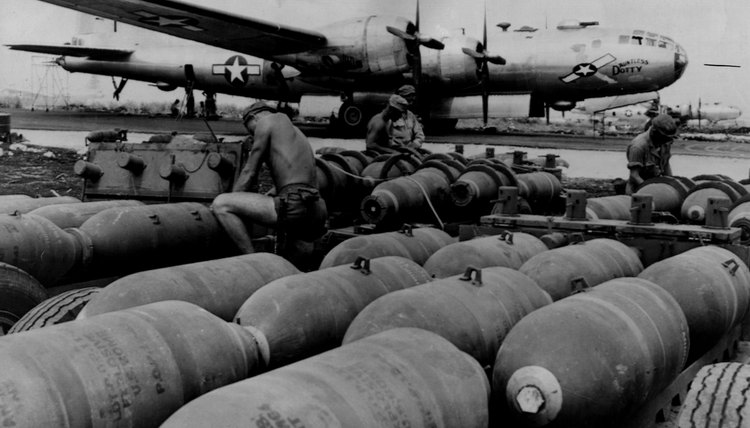 B-29 bombers killed hundreds of thousands of Japanese in 1945 alone.