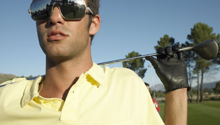 Wear your golf shades when the sun is out.