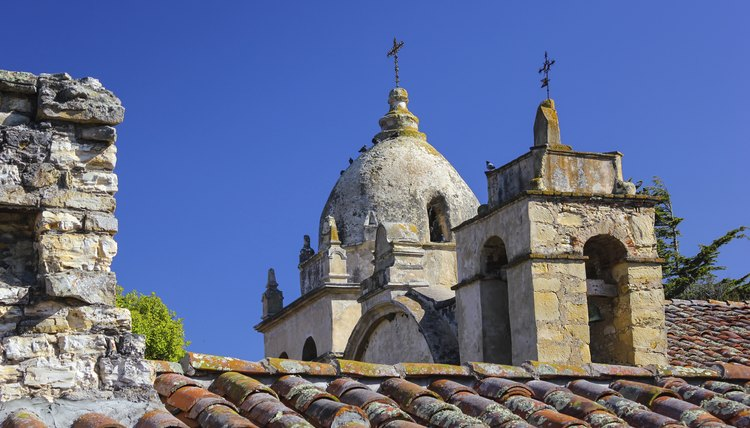 Carmel Mission was the first in California to have a stone church.
