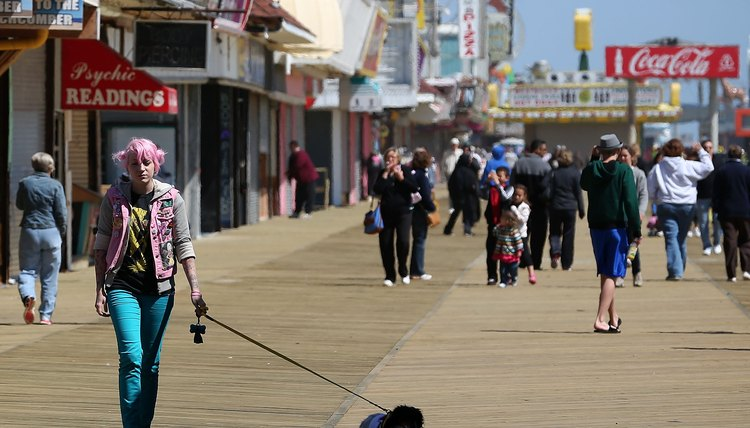 The boardwalk in Seaside Heights, NJ.