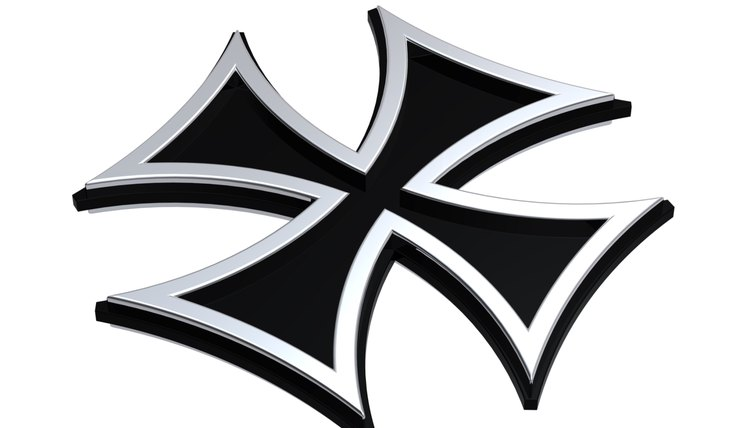 The Iron Cross was traditionally made of iron, but later medals were fashioned from cheaper metals such as aluminum.