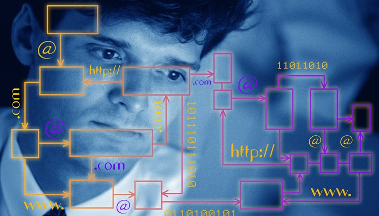 Man with network superimposed over his face
