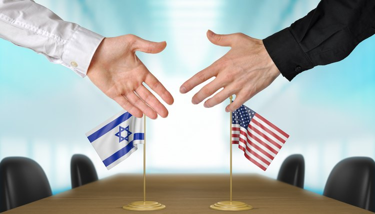 Israel and United States diplomats agreeing on a deal