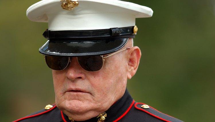 Retired marine in uniform.