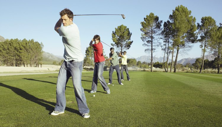 The practice range is the best place to learn the proper golf swing.