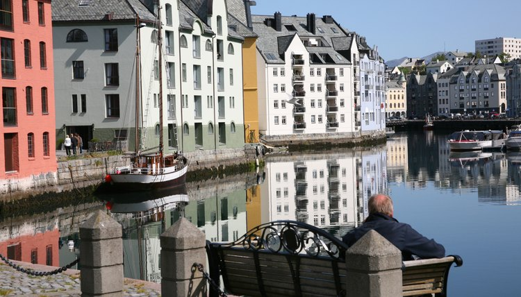 A view of Alesund city in Norway.