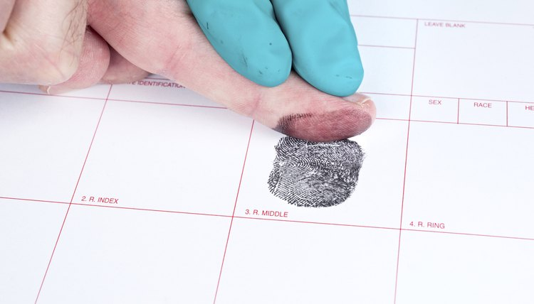 Man being finger printed