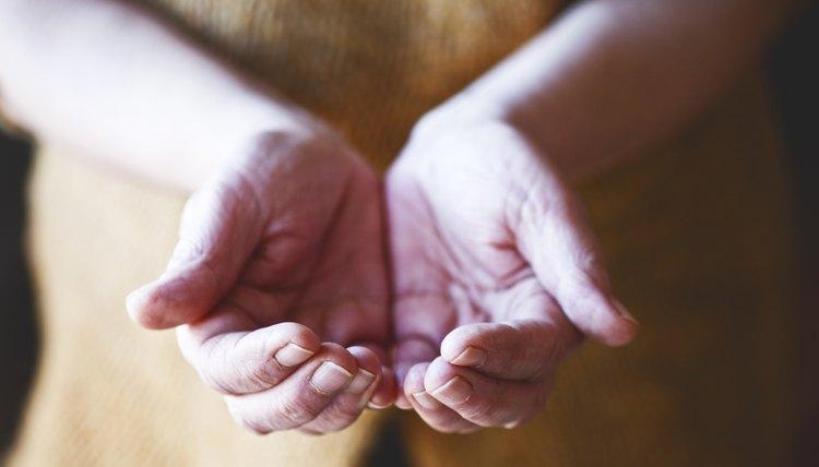 Hands praying to God