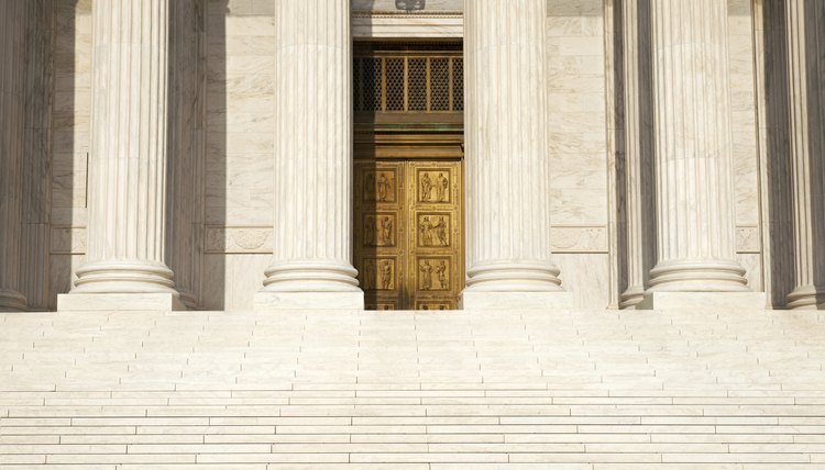 Columns steps and doors of Supreme Court building