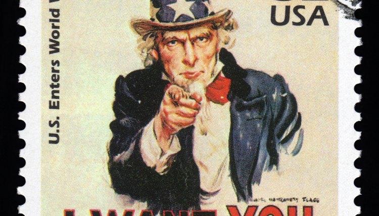 U.S. stamp of Uncle Sam