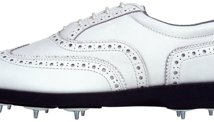 Metal-spikes, such as the ones in these shoes, need to be replaced if you want to walk onto most golf courses today.