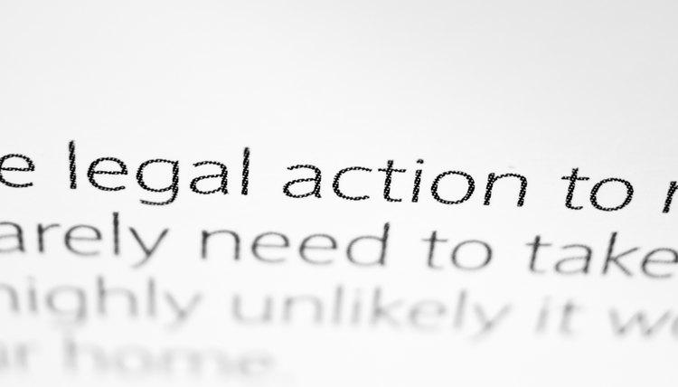 Close up at legal waiver.