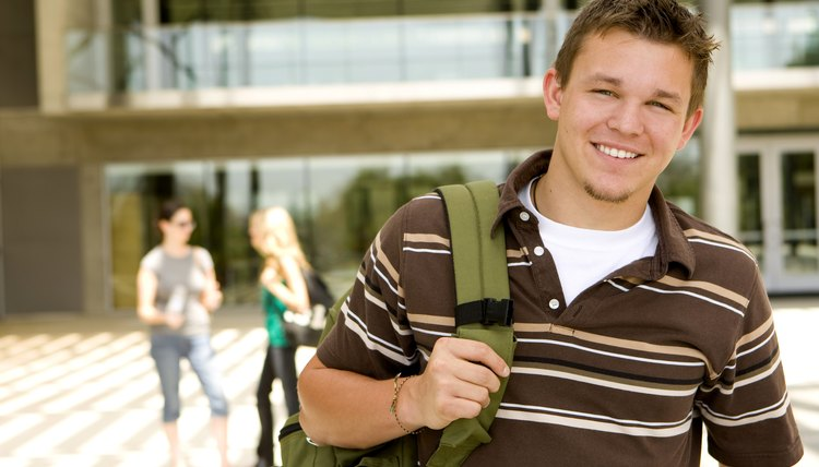 Smiling young student on campus